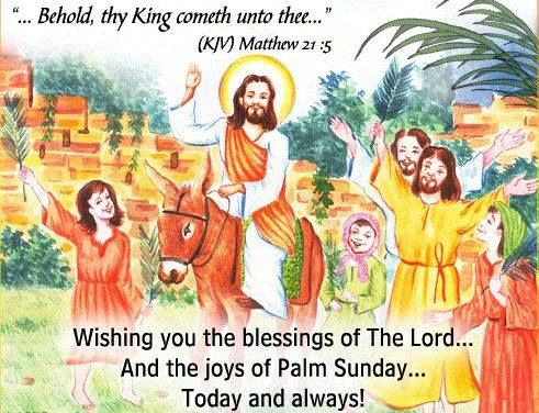 wishing you the blessings of the lord happy palm sunday pictures