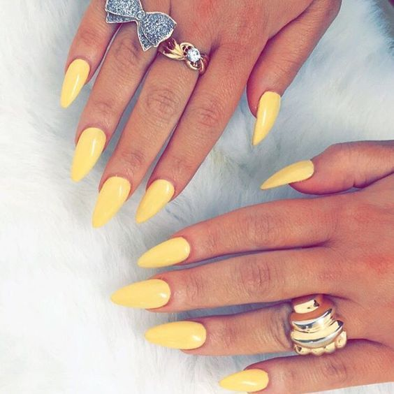 Yellow Stiletto Nails Pictures Photos And Images For Facebook