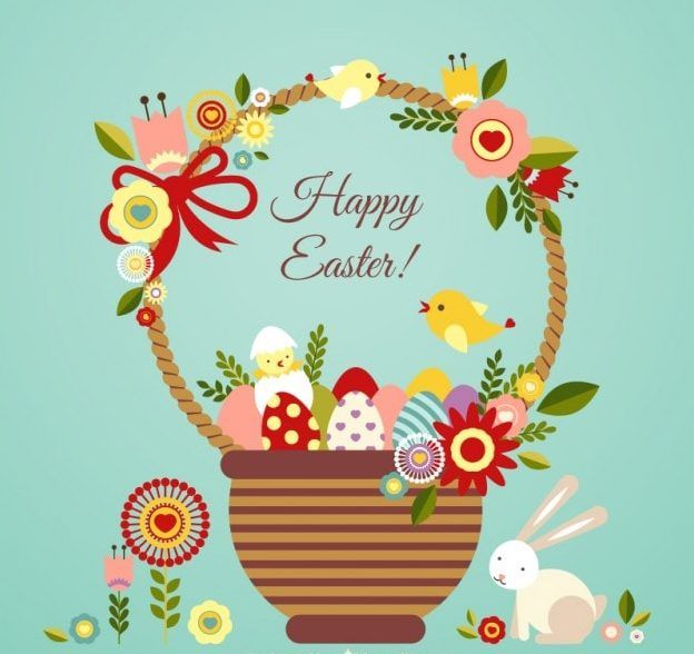 Happy Easter Quotes Wallpapers 2015: Illustrated Happy Easter Basket Pictures, Photos, And