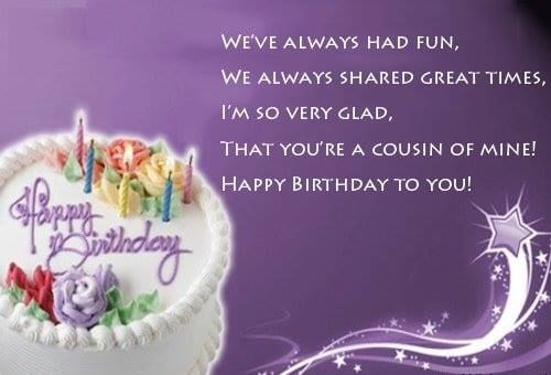 Happy Birthday Quote For Cousins