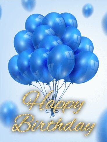Blue Happy Birthday Balloons Pictures, Photos, and Images