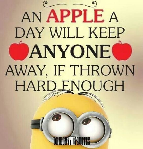 Image result for an apple a day will keep anyone away if