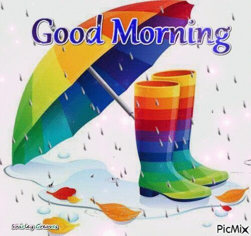 Rainbow Good Morning Boots Pictures, Photos, And Images