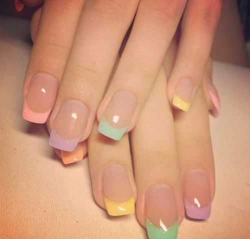 Pastel French Manicure Pictures, Photos, and Images for Facebook, Tumblr,  Pinterest, and Twitter