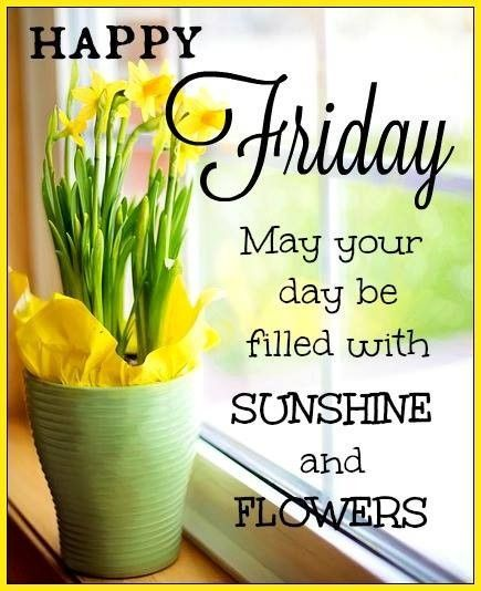 Sunshine And Flower Happy Friday Quote Pictures, Photos ...
