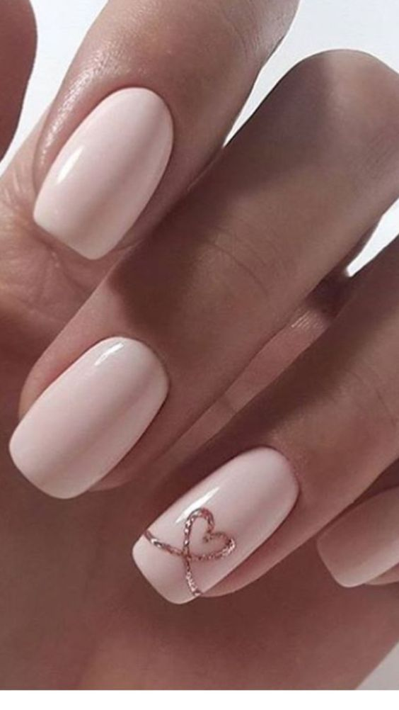 Glitter Twine Heart Nails Pictures Photos And Images For