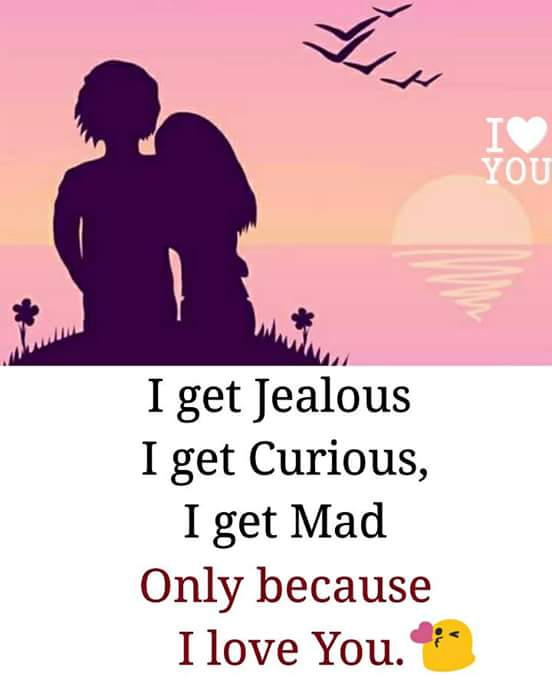 I Love You: I Get Jealous, I Get Curious, I Get Mad Only Because I