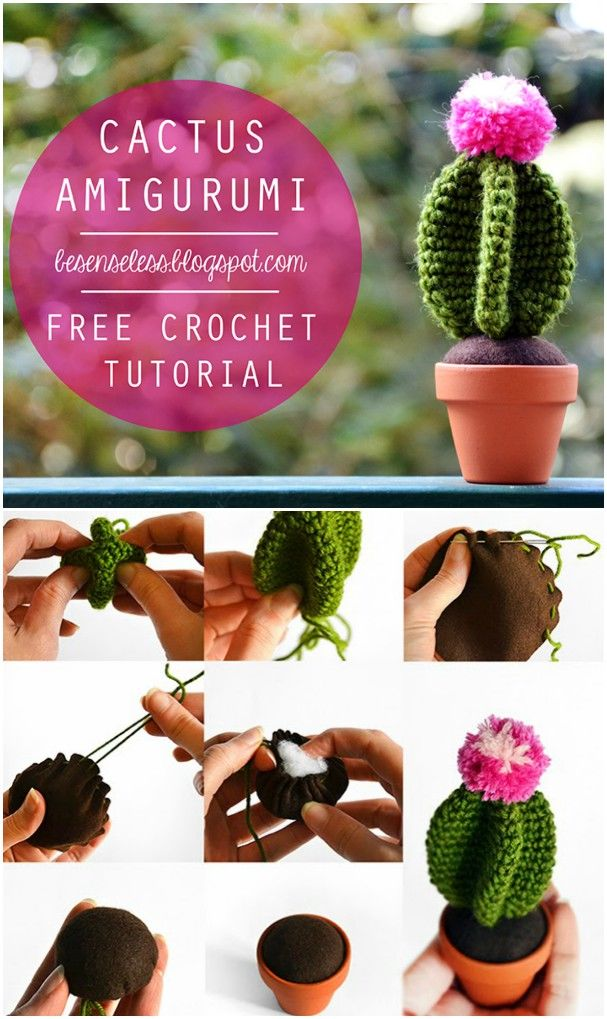 cactus in the facepot amigurumi pattern by Bigbebez (With images ... | 1019x607