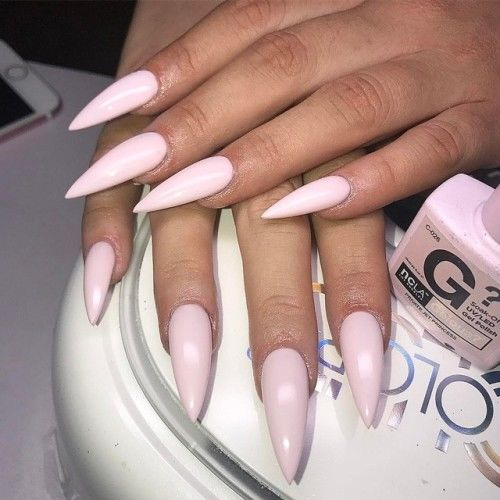 Baby pink stiletto nails pictures photos and images for facebook baby pink stiletto nails solutioingenieria Image collections