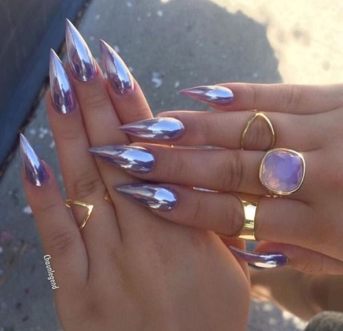 Metallic stiletto nails pictures photos and images for facebook metallic stiletto nails solutioingenieria Image collections