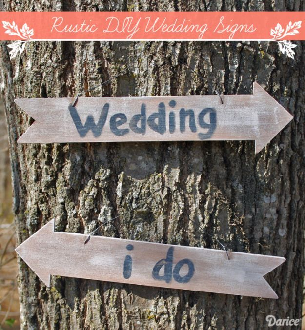 Rustic DIY Wedding Signs Pictures, Photos, And Images For