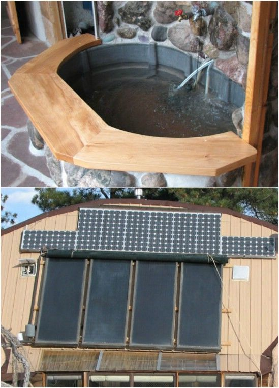 Diy Solar Hot Tub With Fountain Pictures Photos And
