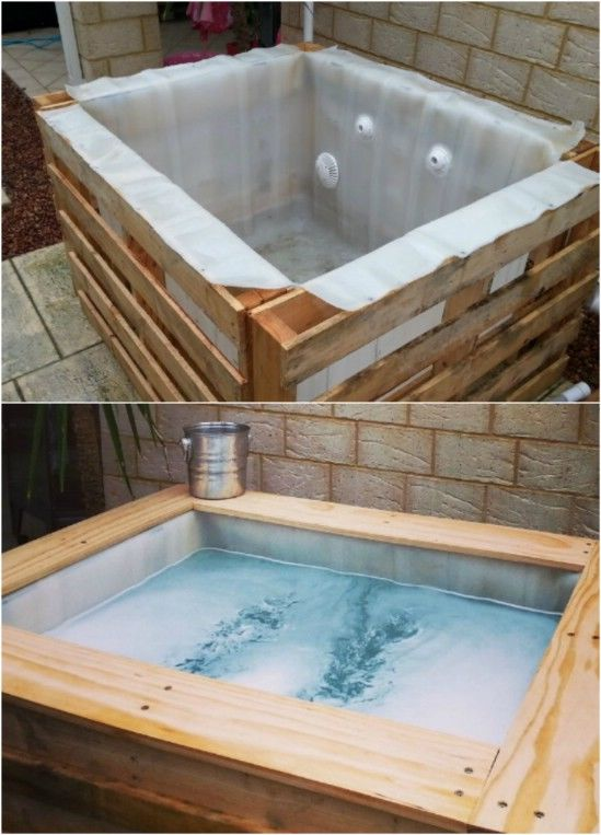 diy upcycled pallet hot tub pictures   images