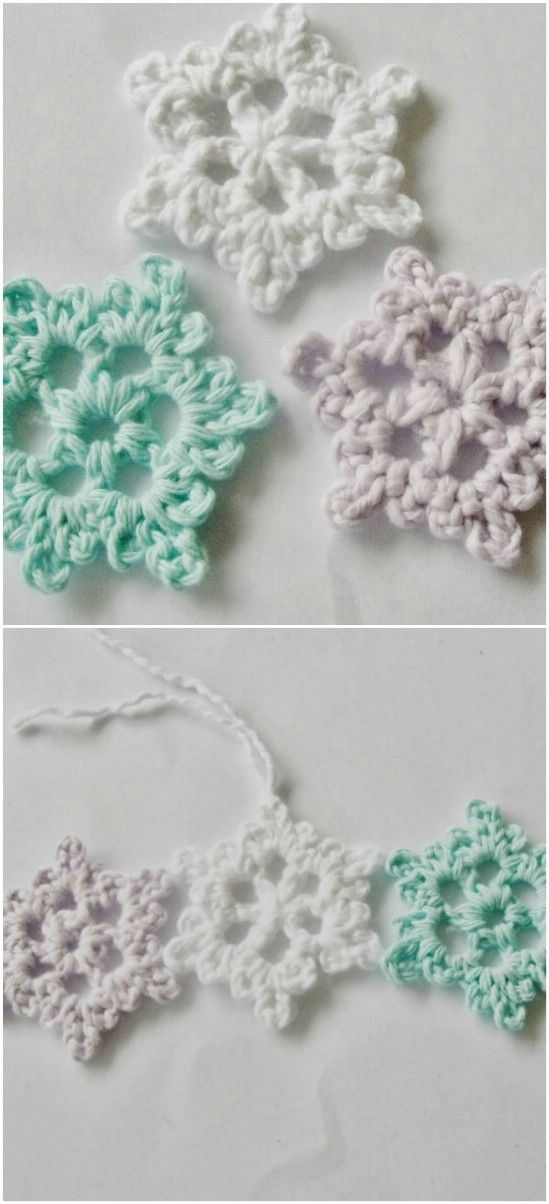 Crocheted Snowflake Pattern Pictures Photos And Images For