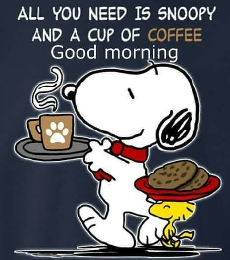 Snoopy, A Cup Of Coffee And Good Morning Pictures, Photos ...