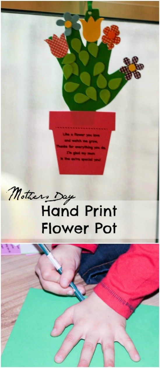 DIY Foam Handprint Flower Pot Card Pictures, Photos, and Images for ...