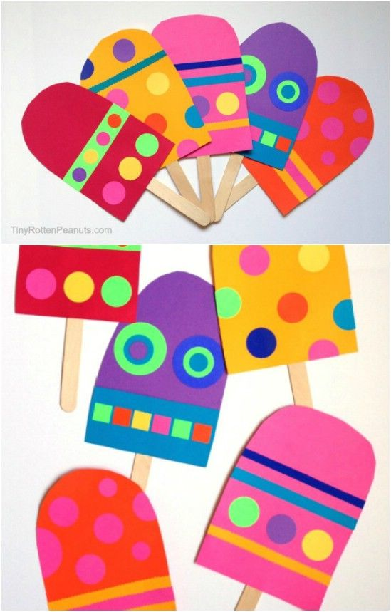 Cute Colorful Craft Stick Popsicles Pictures Photos And