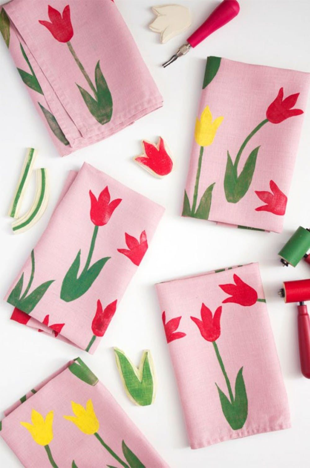 Block Print Tulip Napkin Pictures Photos And Images For Facebook