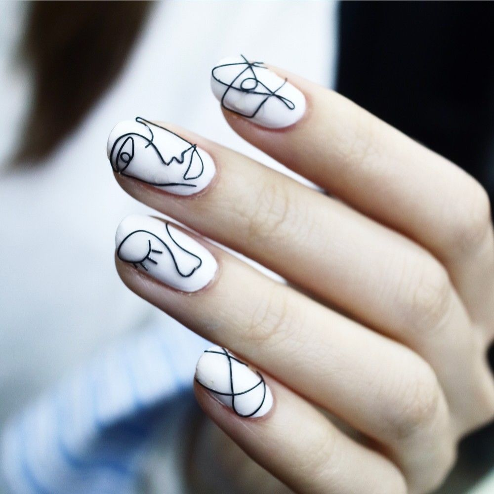 Artsy White Nail Art Pictures Photos And Images For Facebook