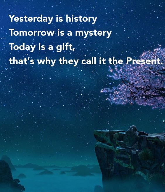 Yesterday Is History Today Is A: Yesterday Is History, Tomorrow Is A Mystery. Today Is A