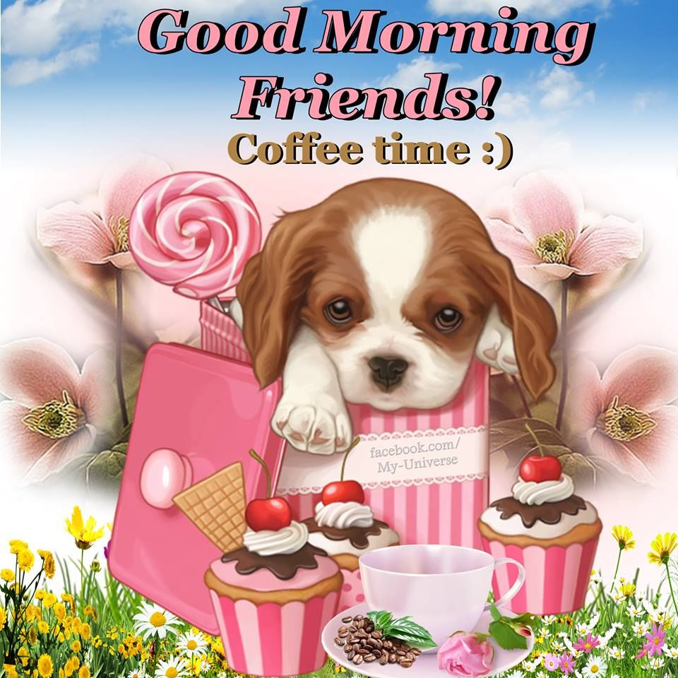 Dog With Candy Good Morning Friends Image Pictures, Photos ...
