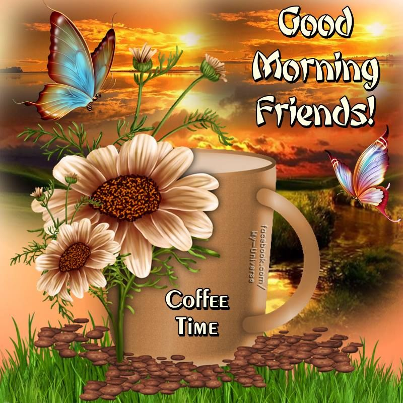 Coffee Time, Good Morning Friends! Pictures, Photos, and