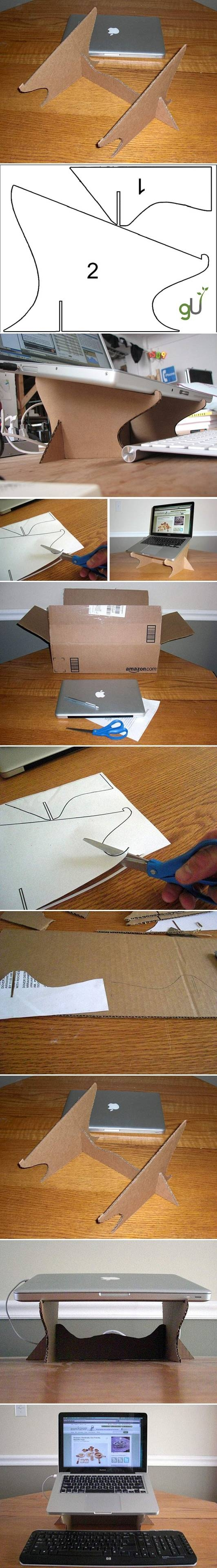 DIY Simple Cardboard Laptop Stand Pictures, Photos, and ...