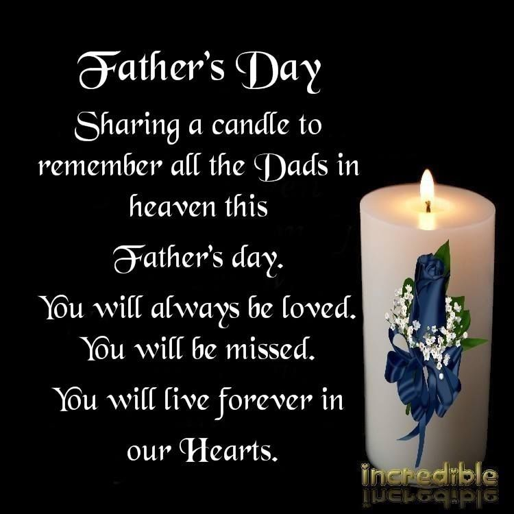 Sharing A Candle To Remember All The Dads In Heaven This