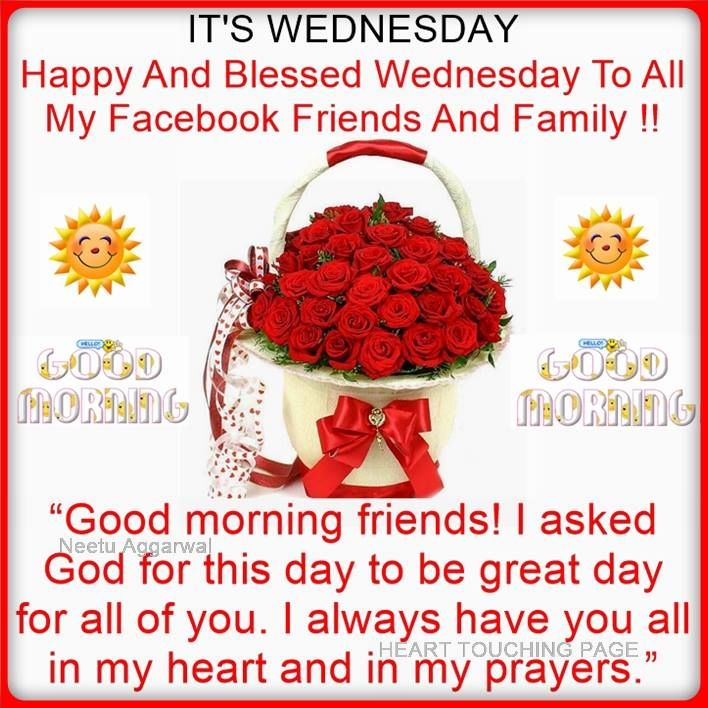 It's Wednesday. Happy And Blessed Wednesday To All My