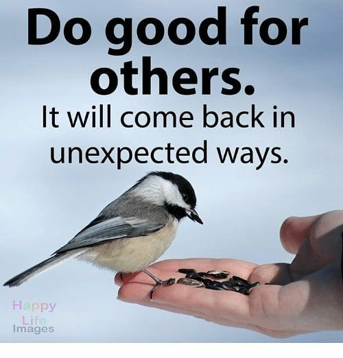 Do Good For Others. It Will Come Back In Unexpected Ways Pictures ...