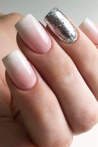 Nude Ombre Nails Design With Glitter Pictures Photos And Images