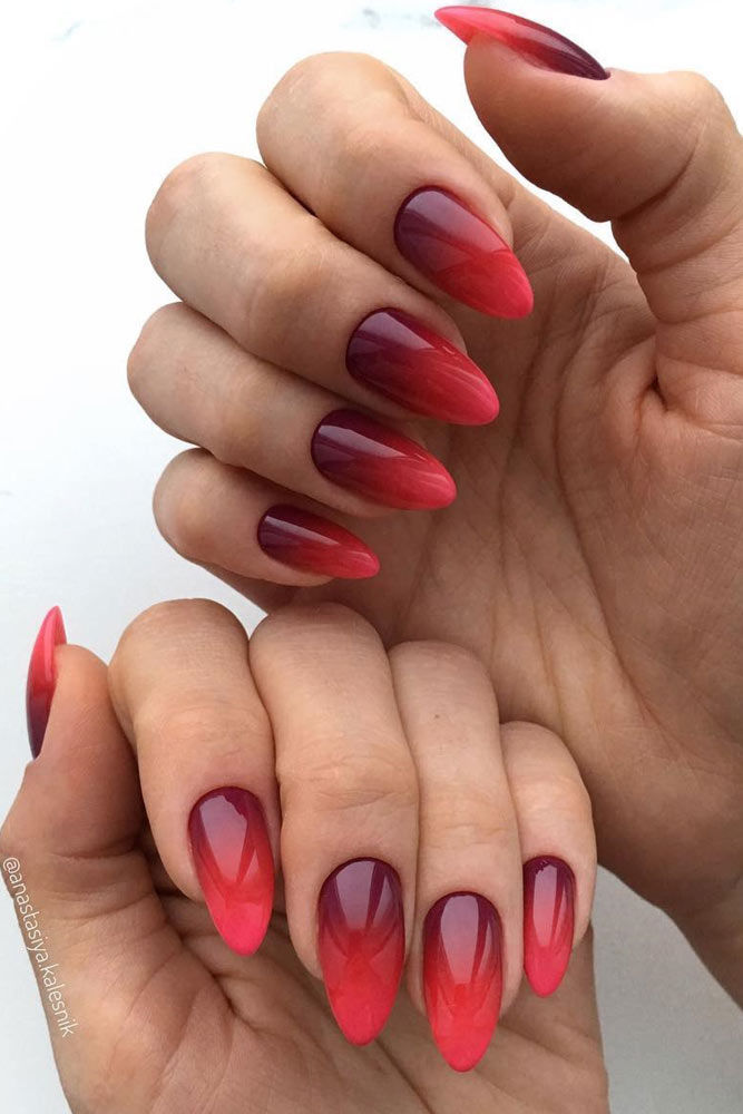 Red Romantic Ombre Nails Pictures Photos And Images For Facebook