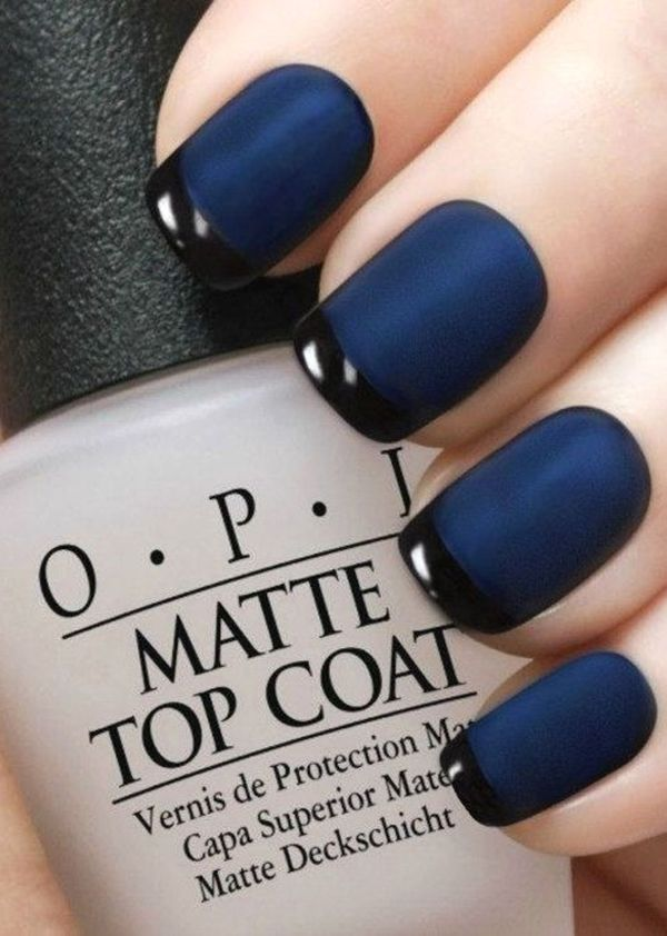matte navy blue nails pictures photos and images for