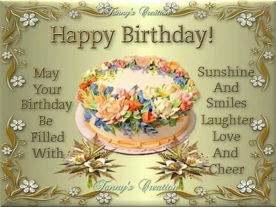 May Your Birthday Be Filled With Sunshine And Smiles