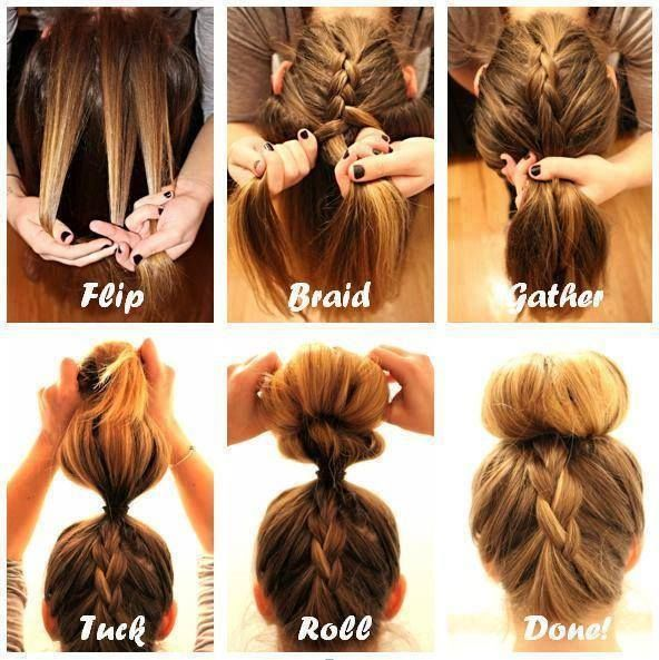 Upside Down French Braid Bun Tutorial Pictures Photos And Images For Facebook Tumblr Pinterest And Twitter