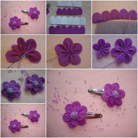 Diy flower hair clip pictures photos and images for - Como hacer adornos para el pelo ...