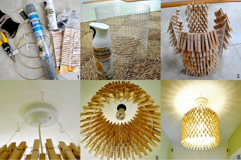 DIY Clothespin Chandelier Pictures Photos and Images for – Do It Yourself Chandelier