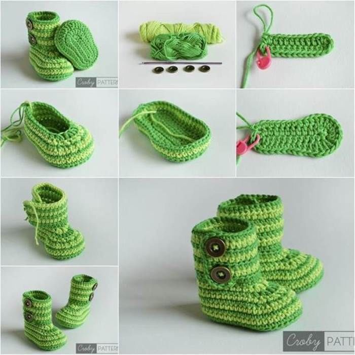 Cute Crochet Baby Booties Pattern Pictures Photos And Images For
