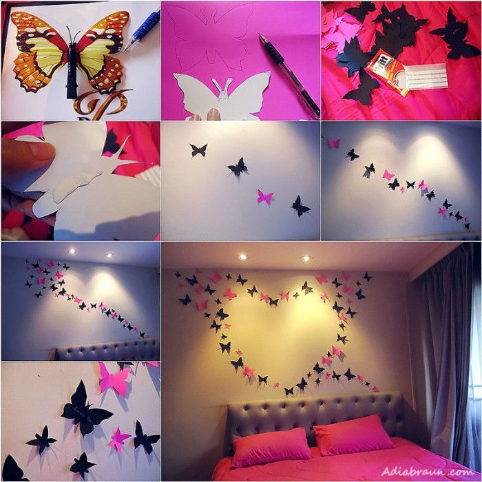 Diy Butterfly Wall Decoration Pictures Photos And Images For Facebook Tumblr Pinterest Twitter