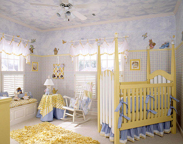 Painted ceiling nursery