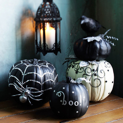 Black And White Halloween Pumpkins Pictures, Photos, and ...