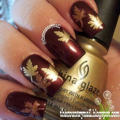 Gold Leaf Nail Design - Gold Leaf Nail Design Pictures, Photos, And Images For Facebook