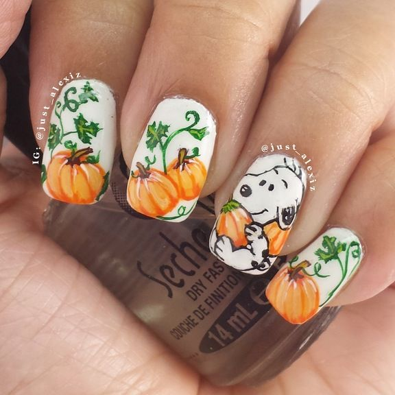 Pumpkin Snoopy Nail Art - Pumpkin Snoopy Nail Art Pictures, Photos, And Images For Facebook