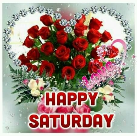 Happy Saturday Red Rose Graphic Pictures, Photos, and