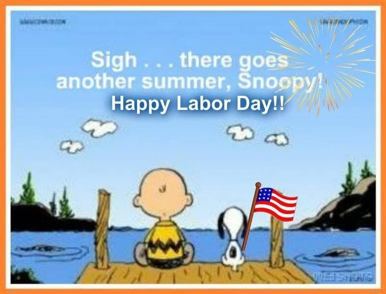 There Goes Another Summer Snoopy Happy Labor Day