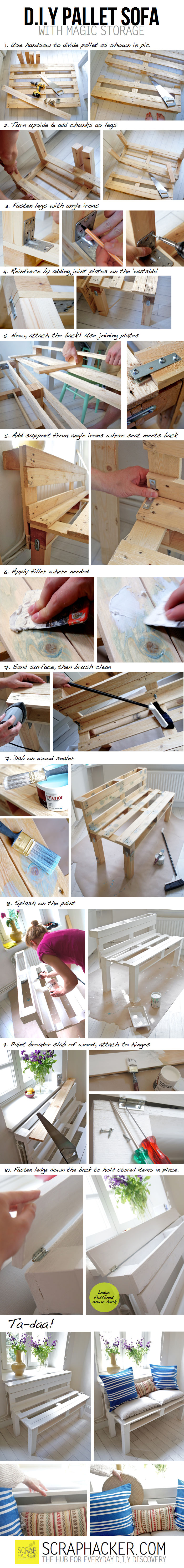 Diy Storage Pallet Sofa Pictures, Photos, and Images for ...