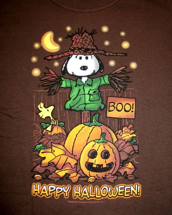 Scarecrow Snoopy Happy Halloween Pictures Photos And