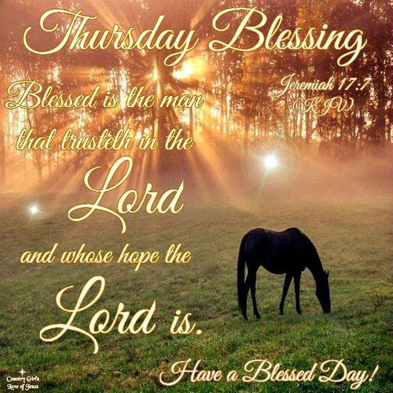 Style Hair Man: Blessed Is The Man That Trusteth In The Lord, Thursday