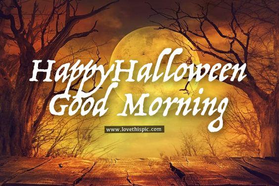 Orange Moon Happy Halloween Good Morning Pictures Photos