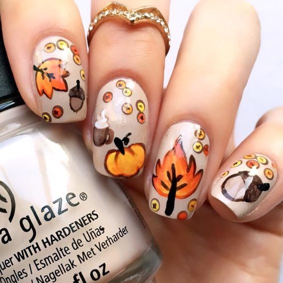 Last Autumn Nail Art Of The Year: Fall Nail Art Design Pictures, Photos, And Images For
